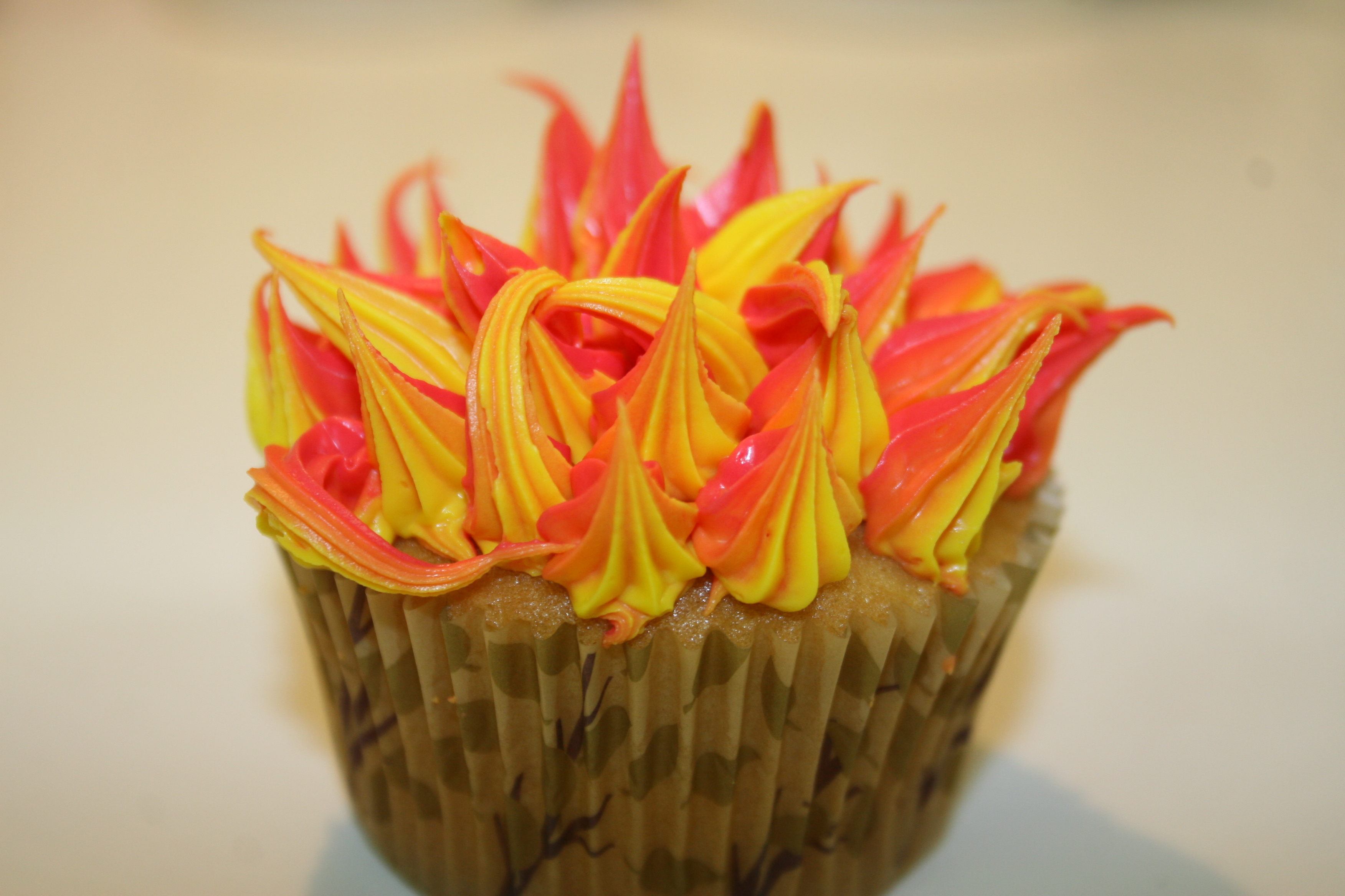 Burning Bush Cupcakes
