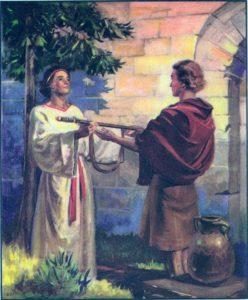 Jonathan gives David his robe, armor, and weapons I Samuel 18:3-4