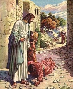 Jesus and the 10 lepers
